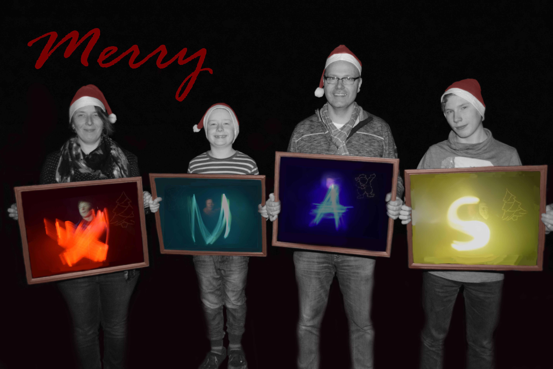 Weihnachtsgruß 2015 - Lightpainting