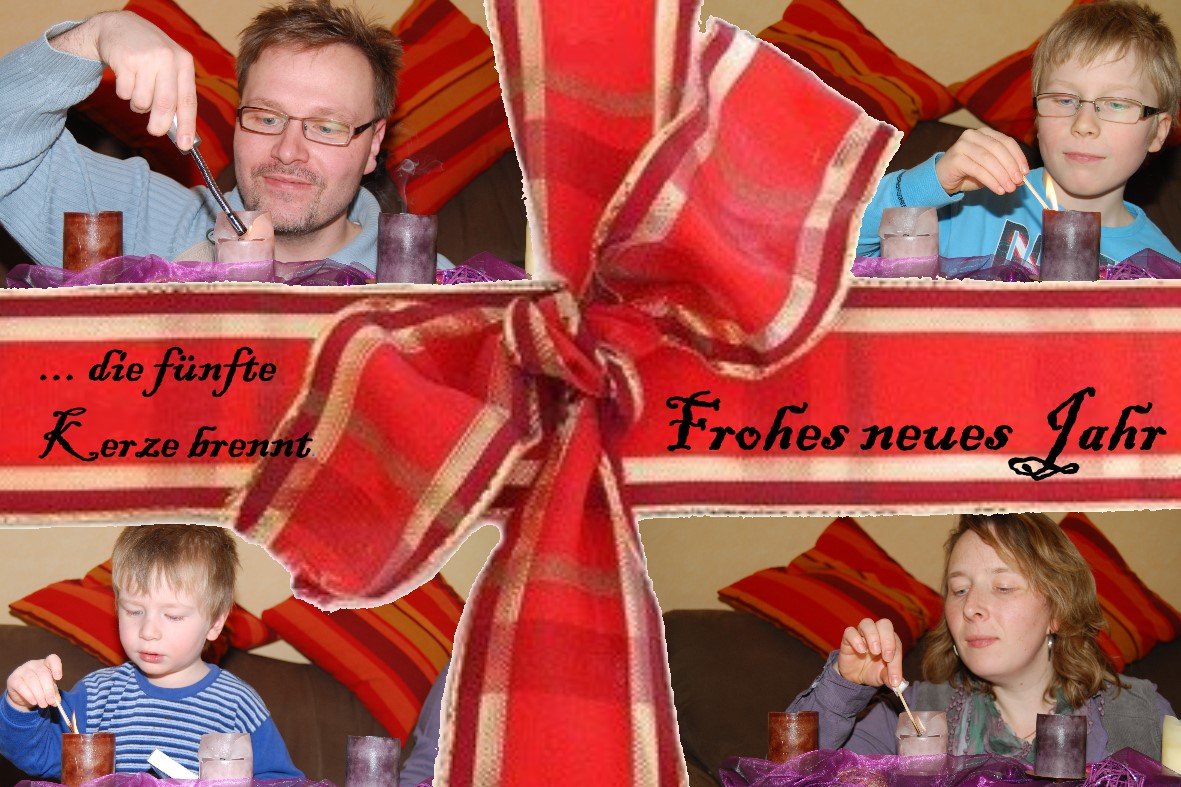 Neujahrsgruß 2010 - Die fünfte Kerze
